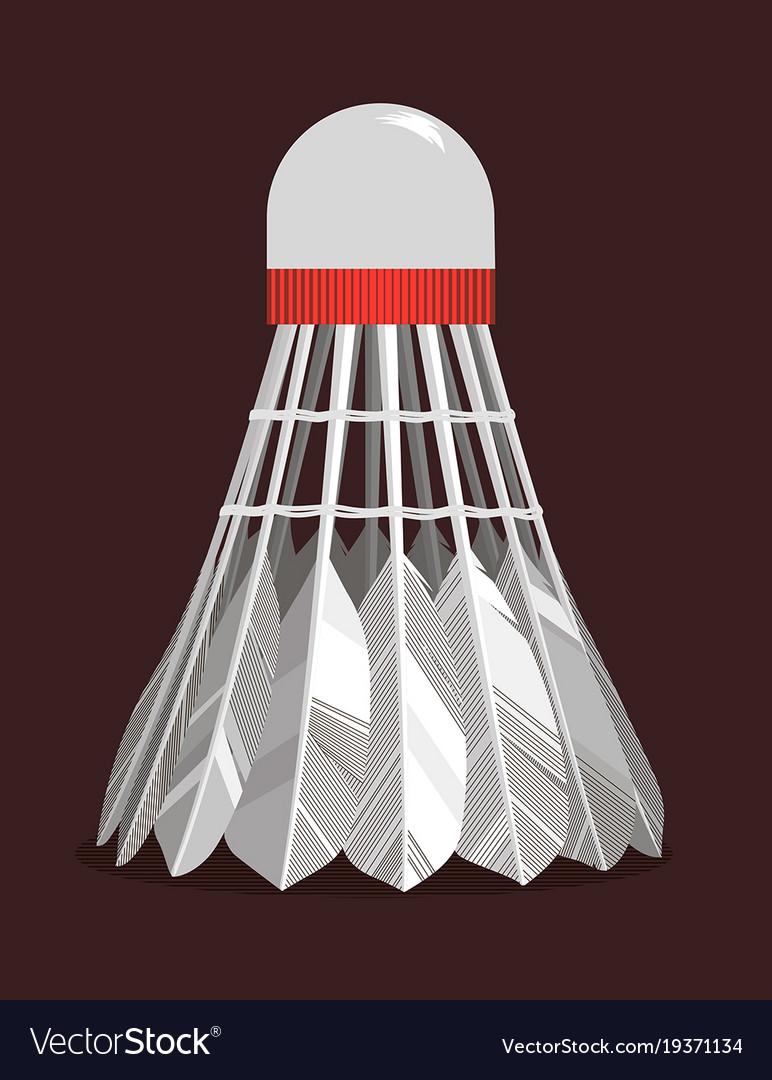 Shuttlecock vector image