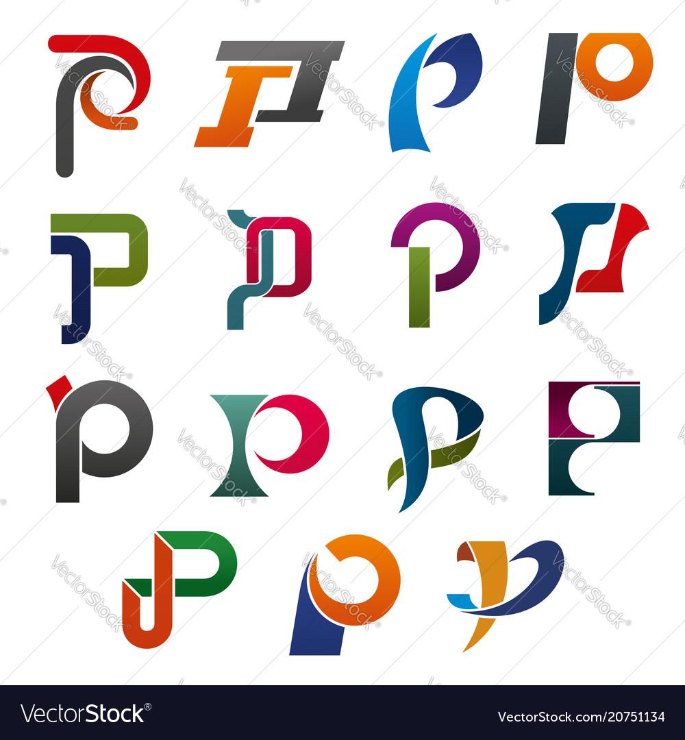 Symbol of letter p for corporate identity design