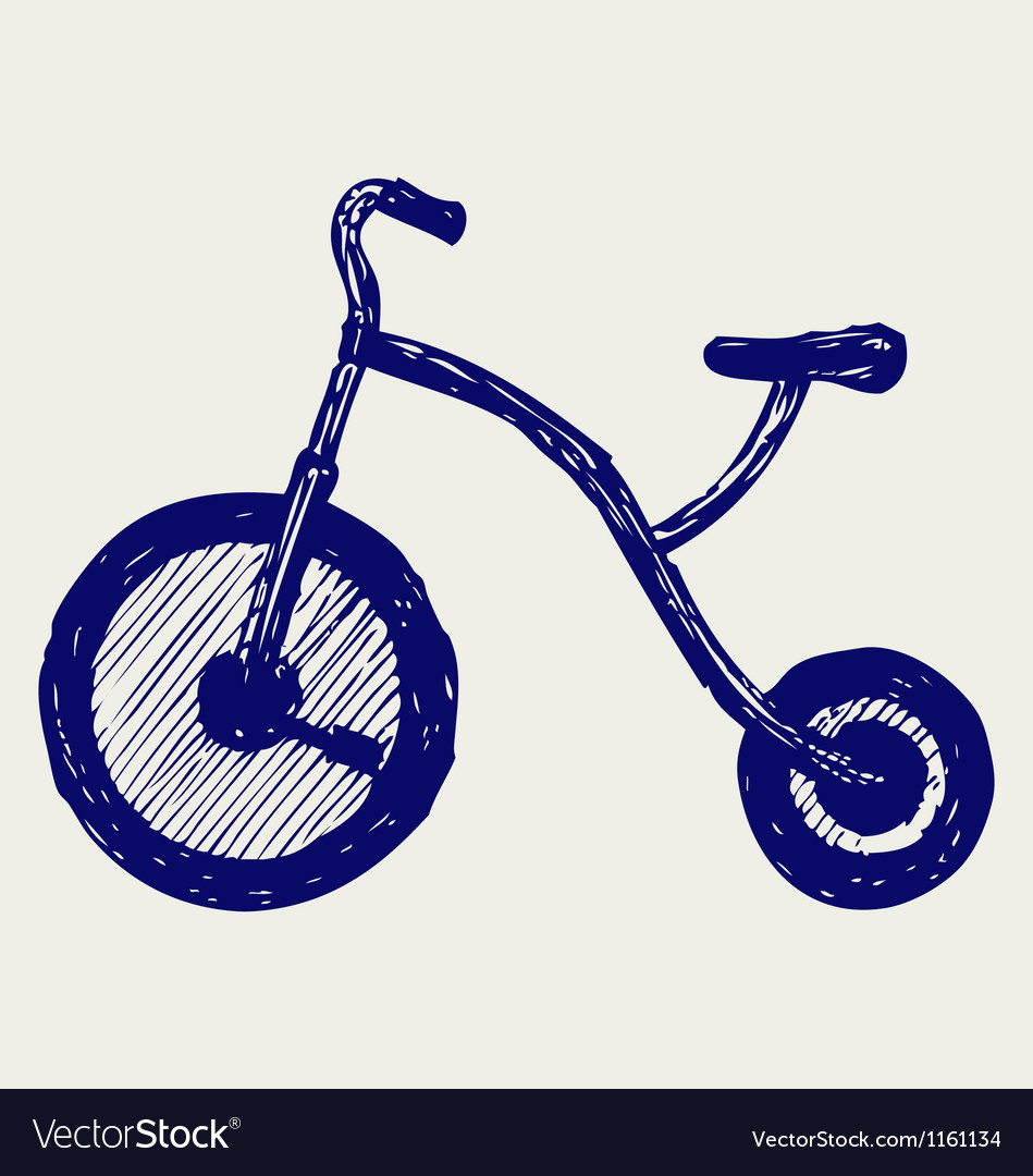 Tricycle child vector image