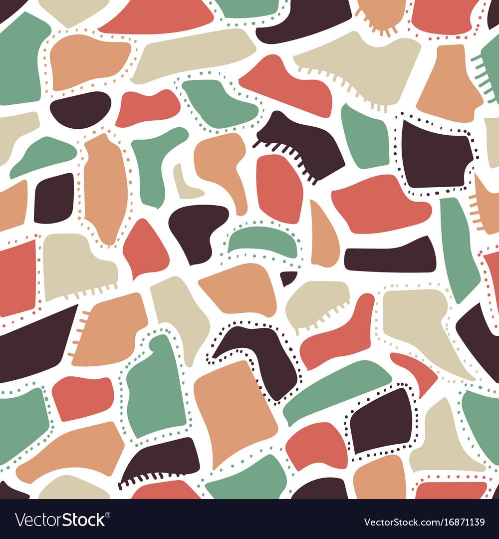 Abstract seamless pattern randomly disposed