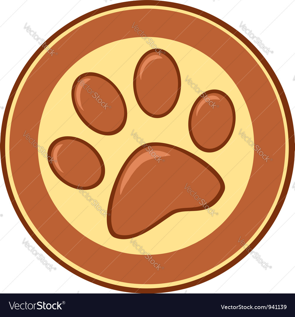 Brown Paw Print Banner vector image