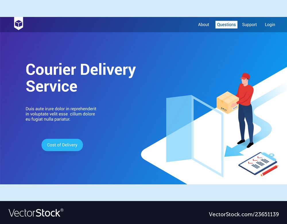 Courier delivery 3d template