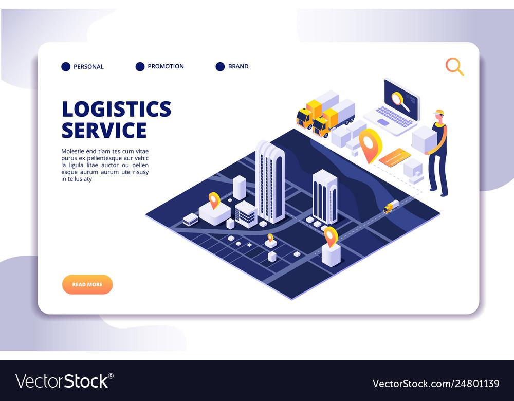 Distribution and logistics isometric concept