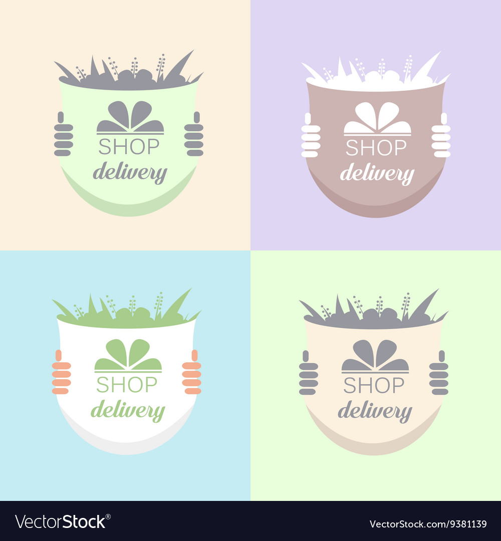 Flowers Delivery Icons Set