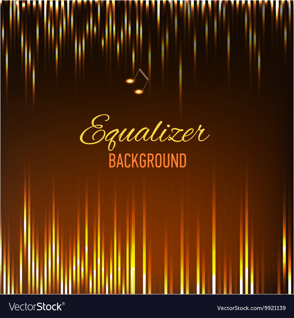 Musical background with key notes and equalizer