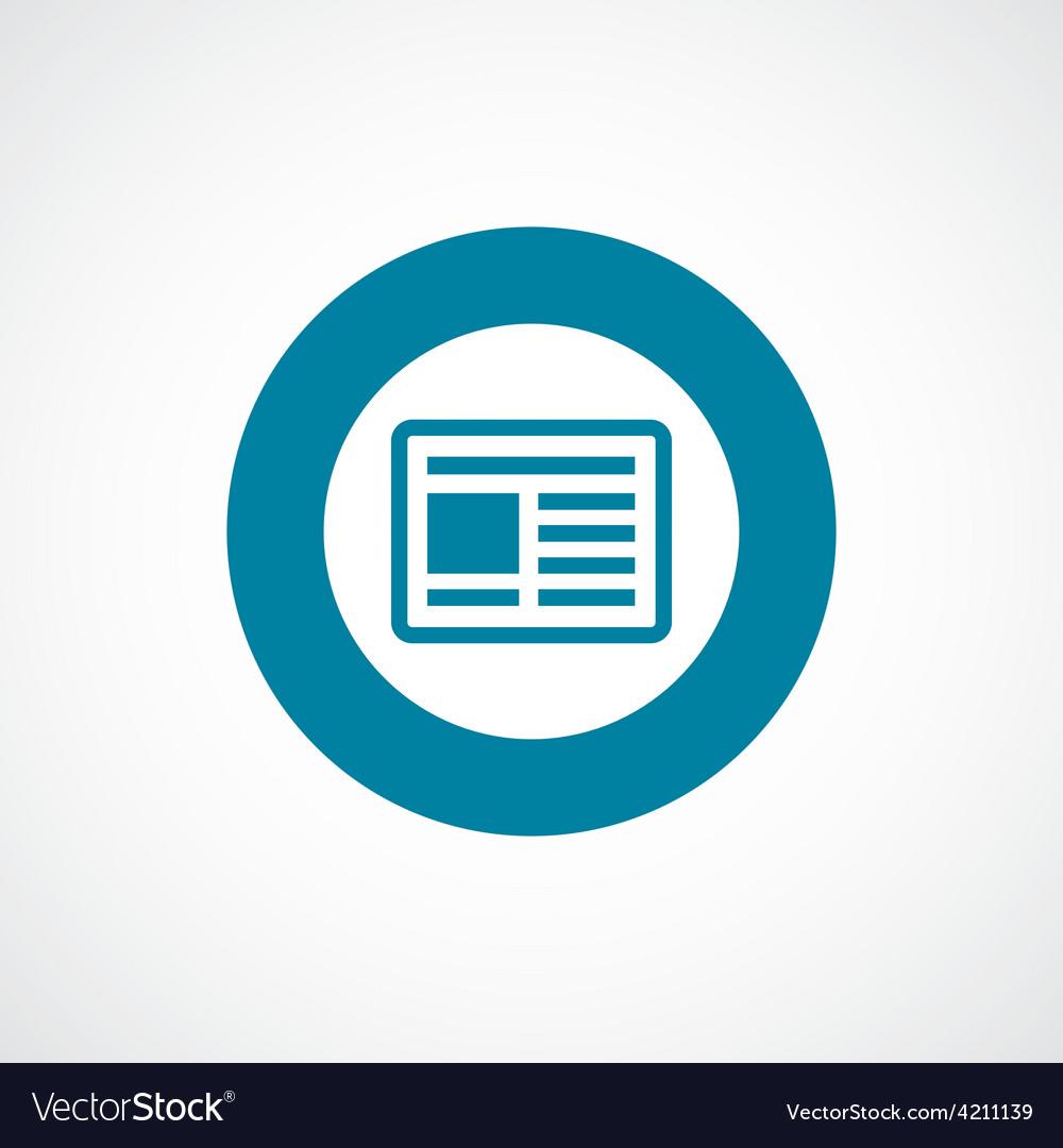 News icon bold blue circle border
