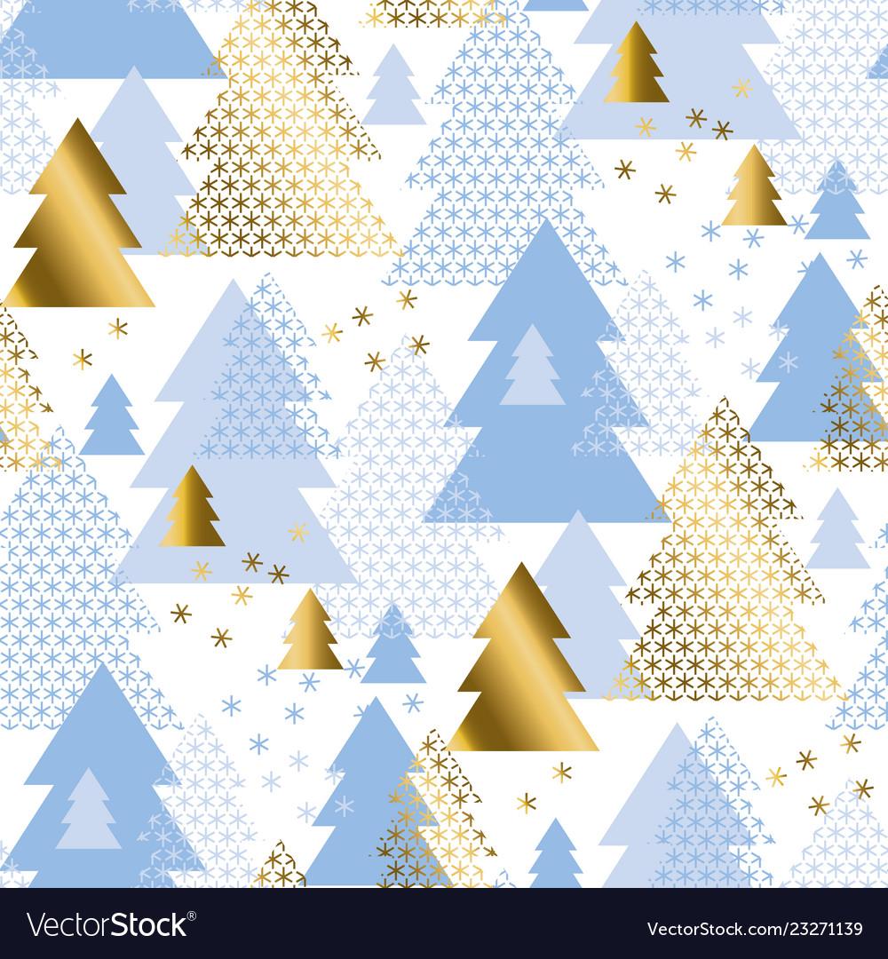 Pastel geometric christmas tree seamless pattern