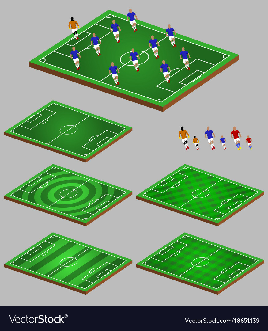 Soccer tactic info element graphic