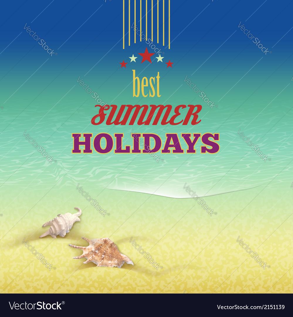 Summer holidays retro style background vector image