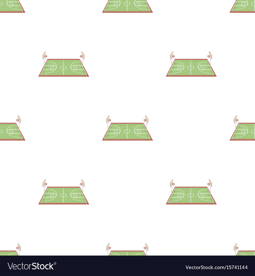 Basketball courtbasketball pattern icon in