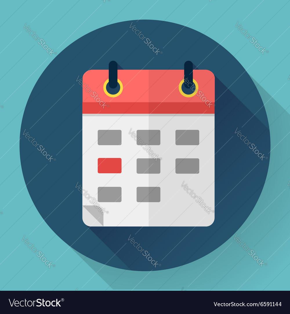 Calendar Or Mobile Organizer Icon Vector Image
