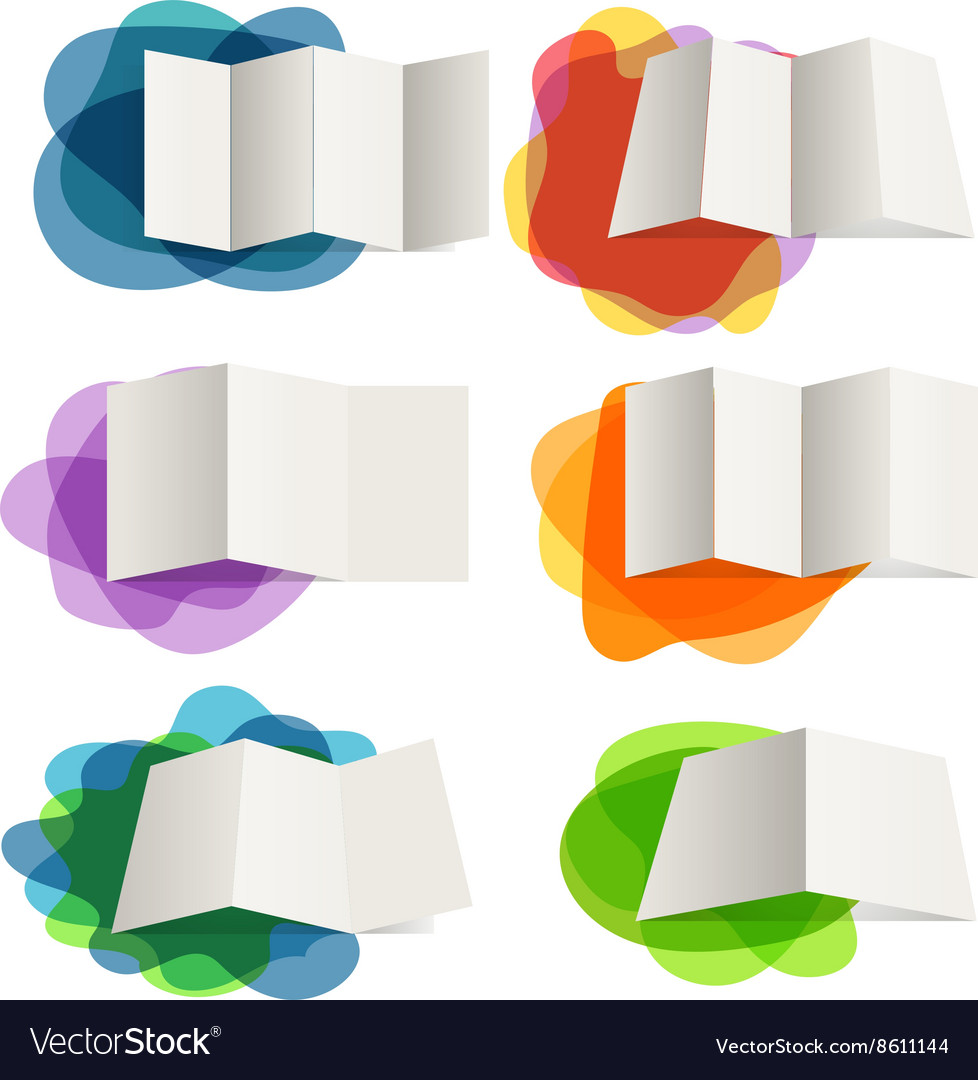 Different paper maps on blots collection Design