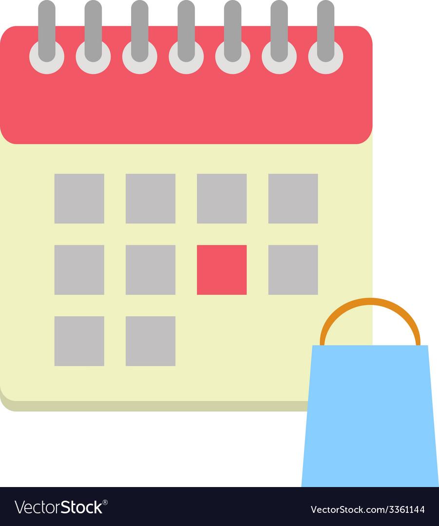 Flat style calendar icon