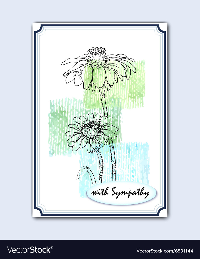Greeting card with wild flowers