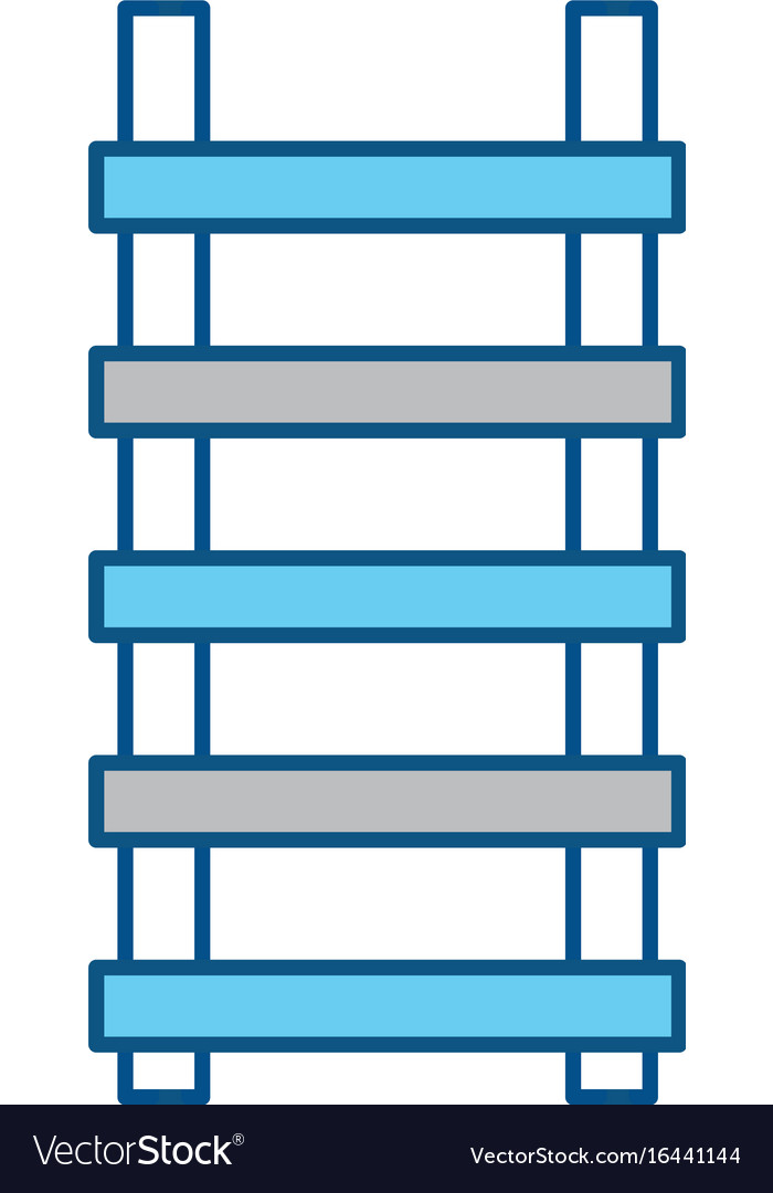 Ladder construction tool vector image