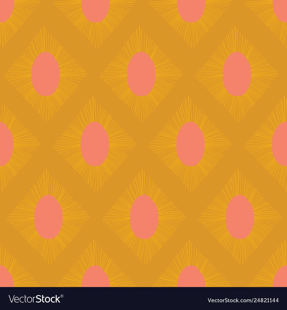 Modern ikat seamless pattern gold yellow