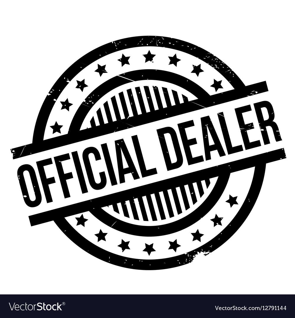 Official Dealer rubber stamp vector image
