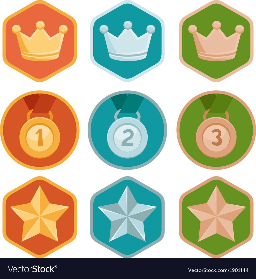 Rewards icons vector image