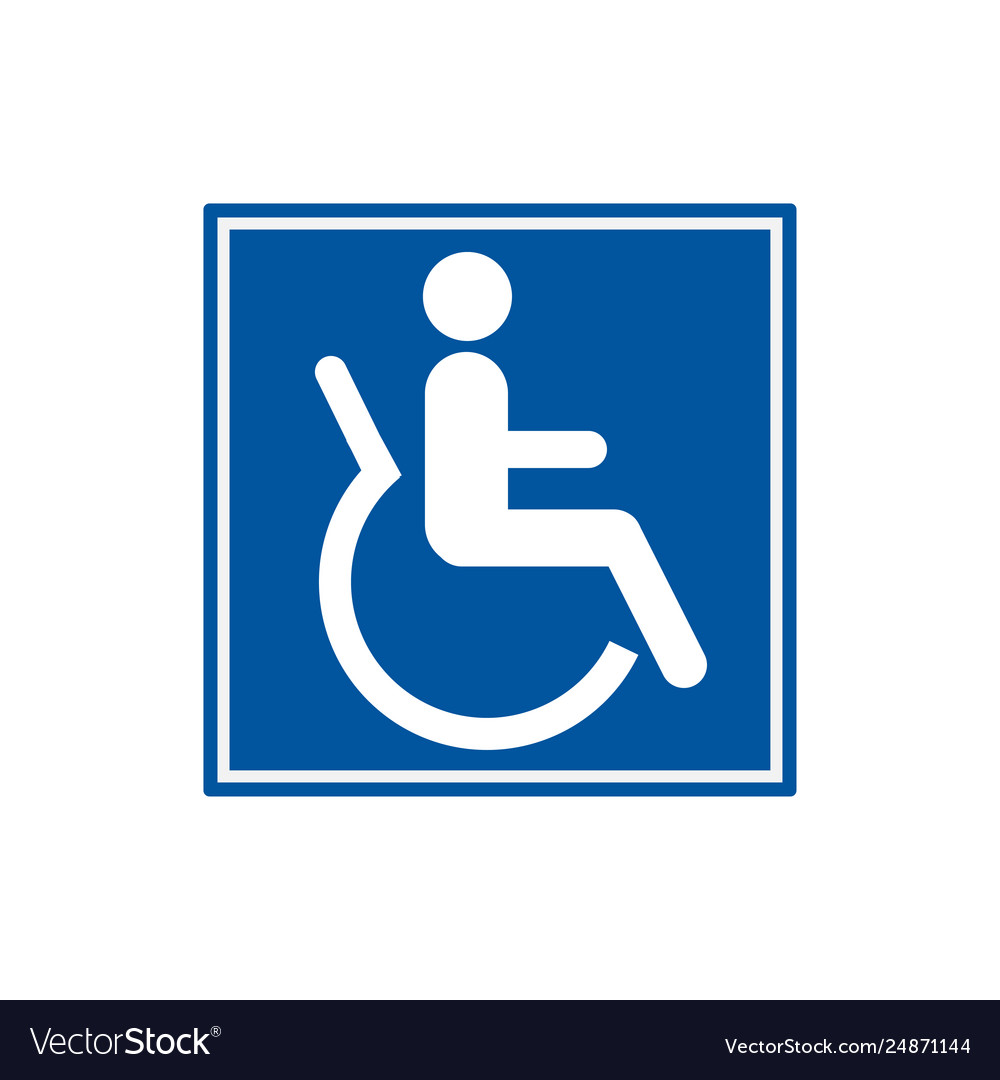 Symbol for disabled people wheelchair users