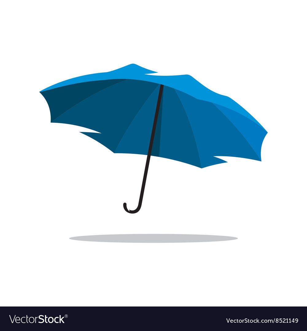 Blue Umbrella Cartoon vector image