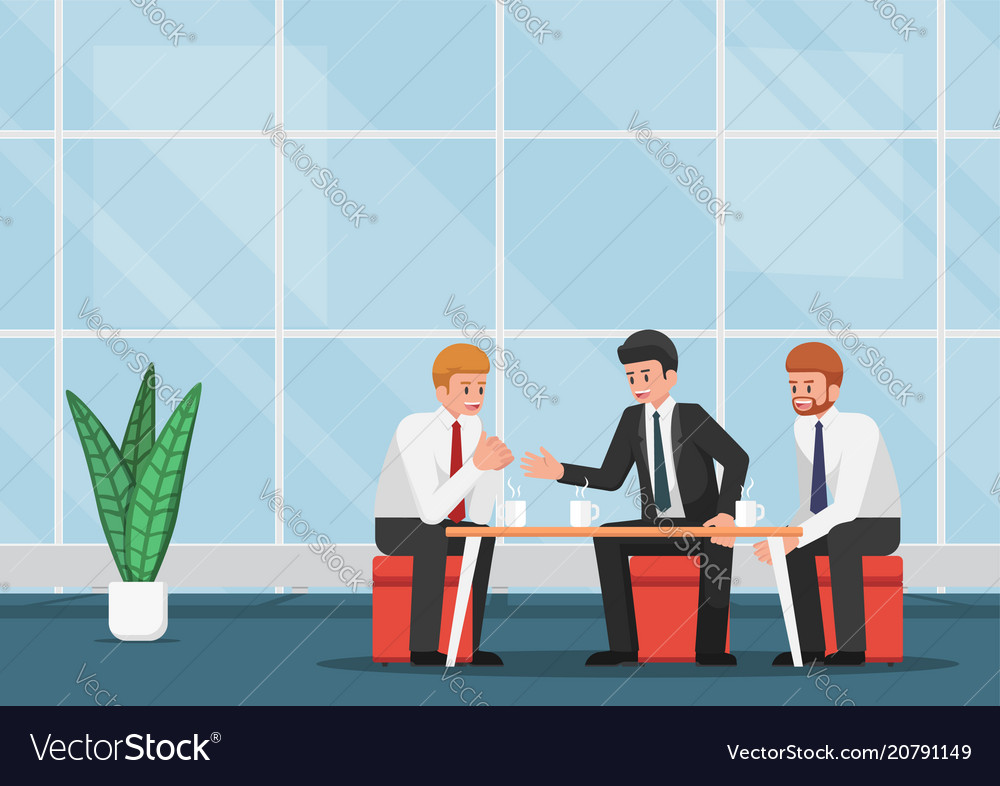 Business people meeting and talking during coffee