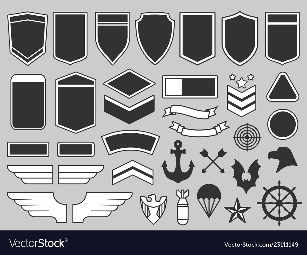 Military patches army soldier emblem troops