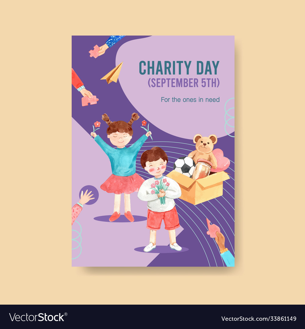 Poster template with international day charity