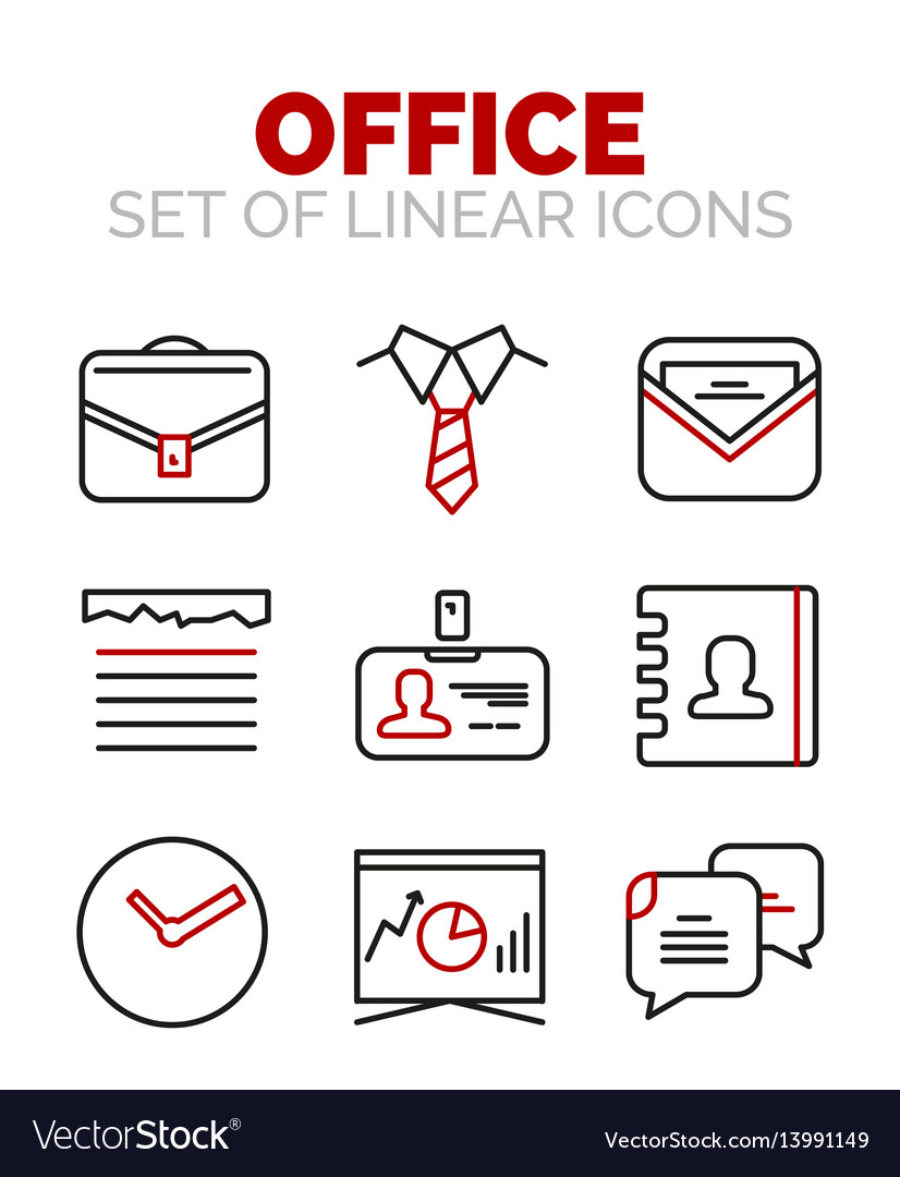 Set of office or business icons