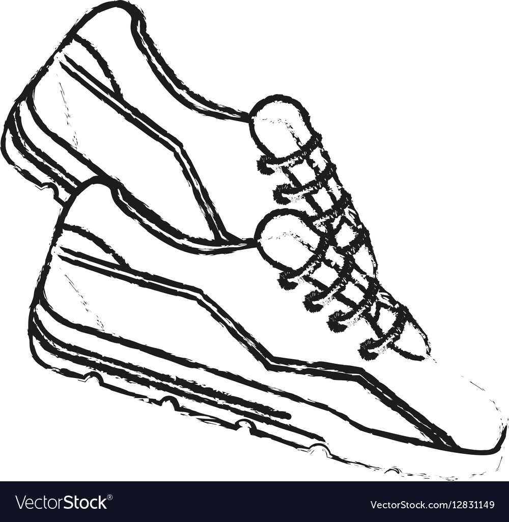 Spor shoes icon vector image