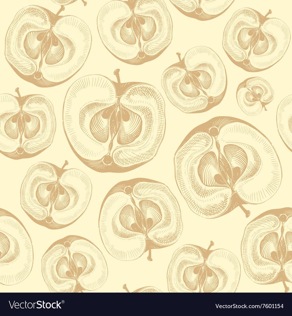 Apple fruit wallpaper seamless pattern vector image