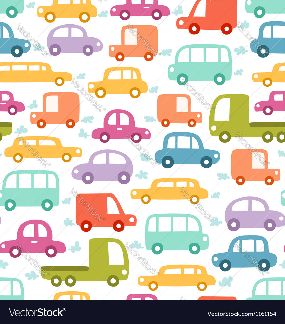 cars pattern royalty free vector image vectorstock