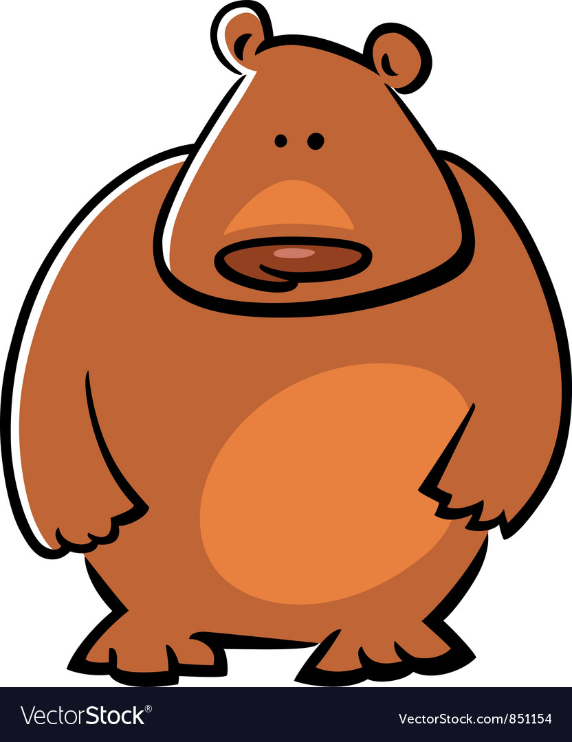 Doodle bear vector image