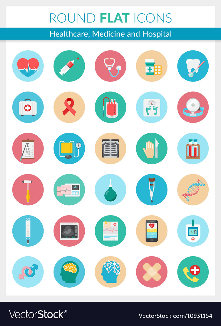 Healthcare Medicine and Hospital Icons