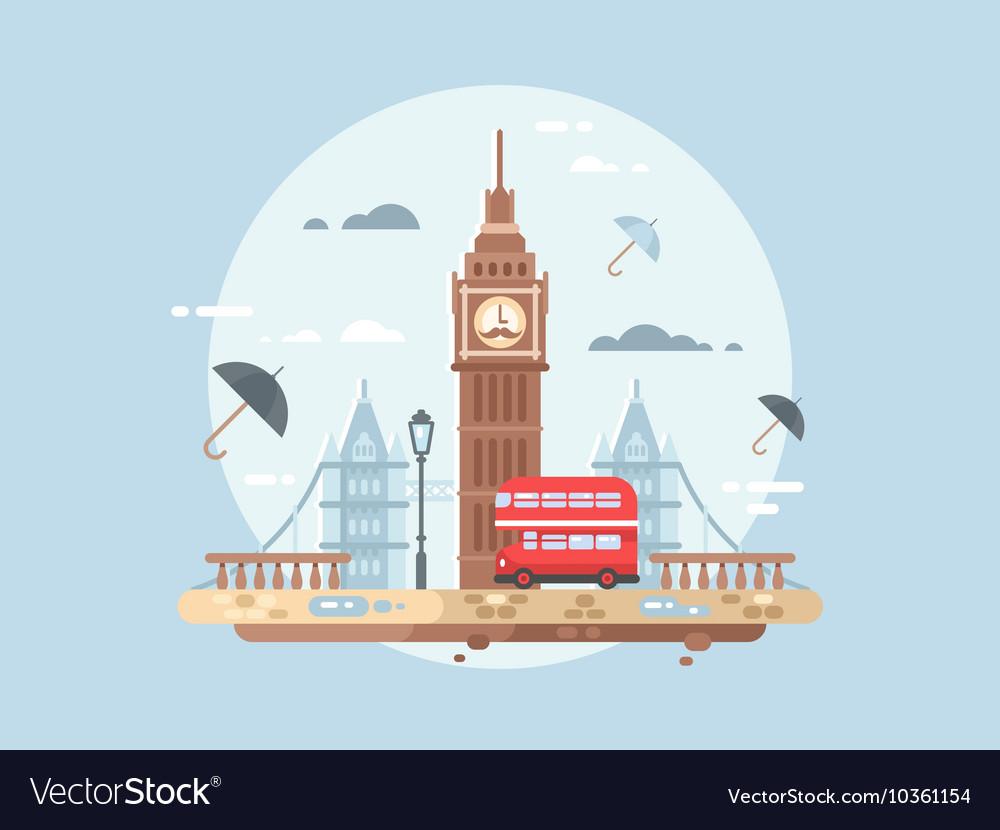 London city flat vector image