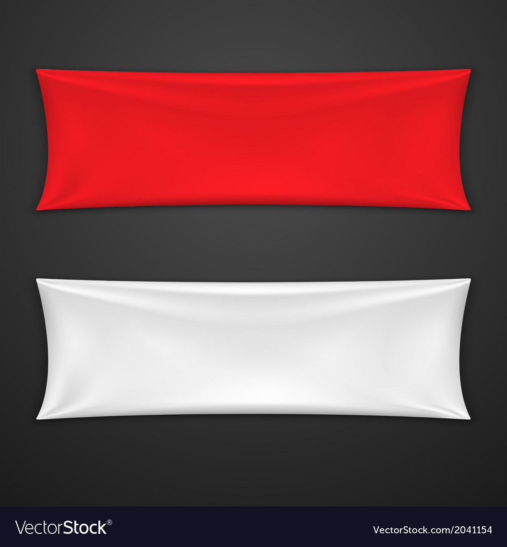 Red And White Textile Banner Set