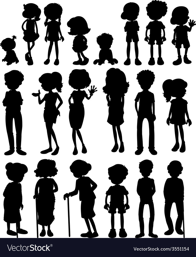 Silhouette People