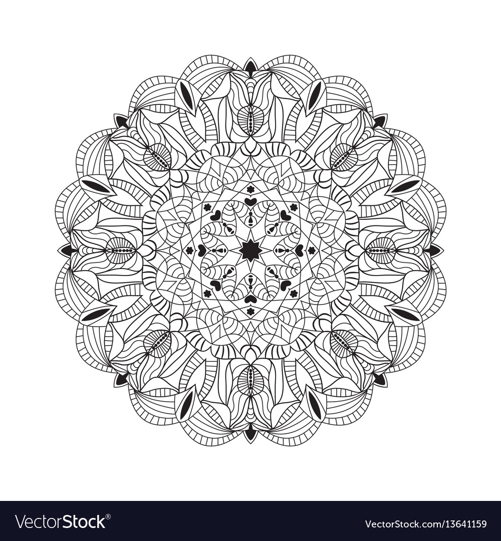 Beautiful black mandala for design element