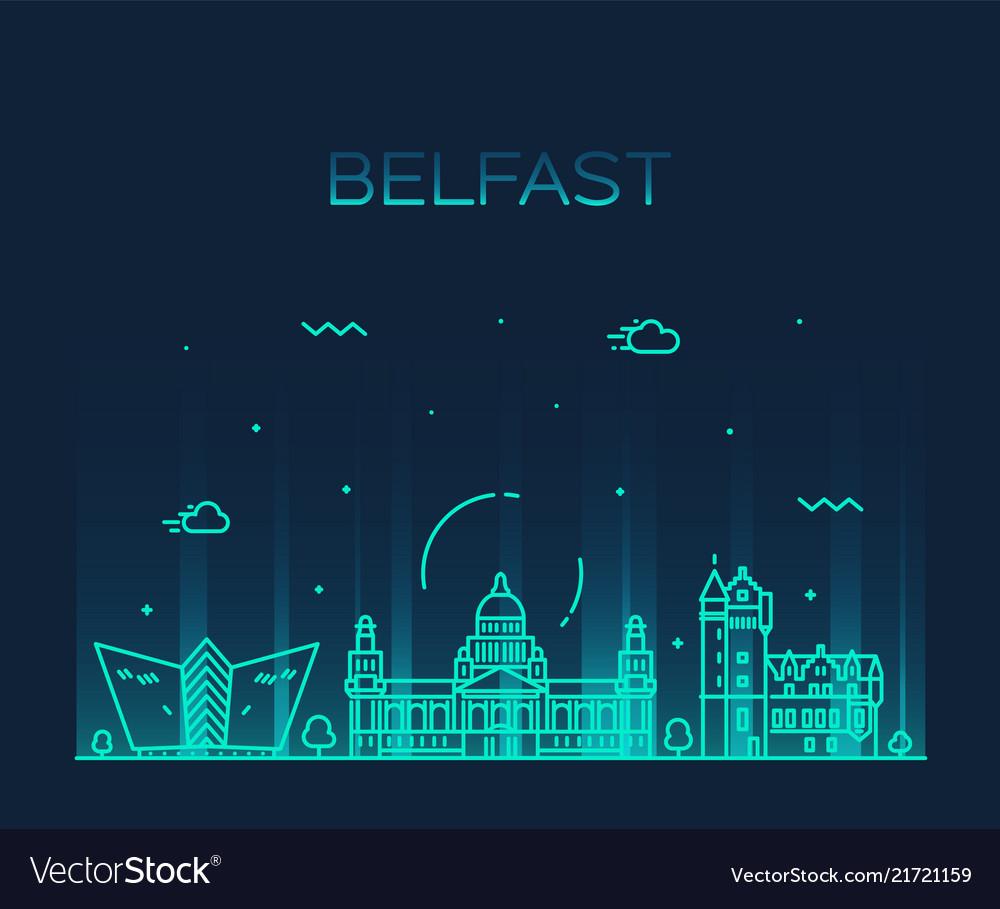 Belfast skyline northern ireland line city