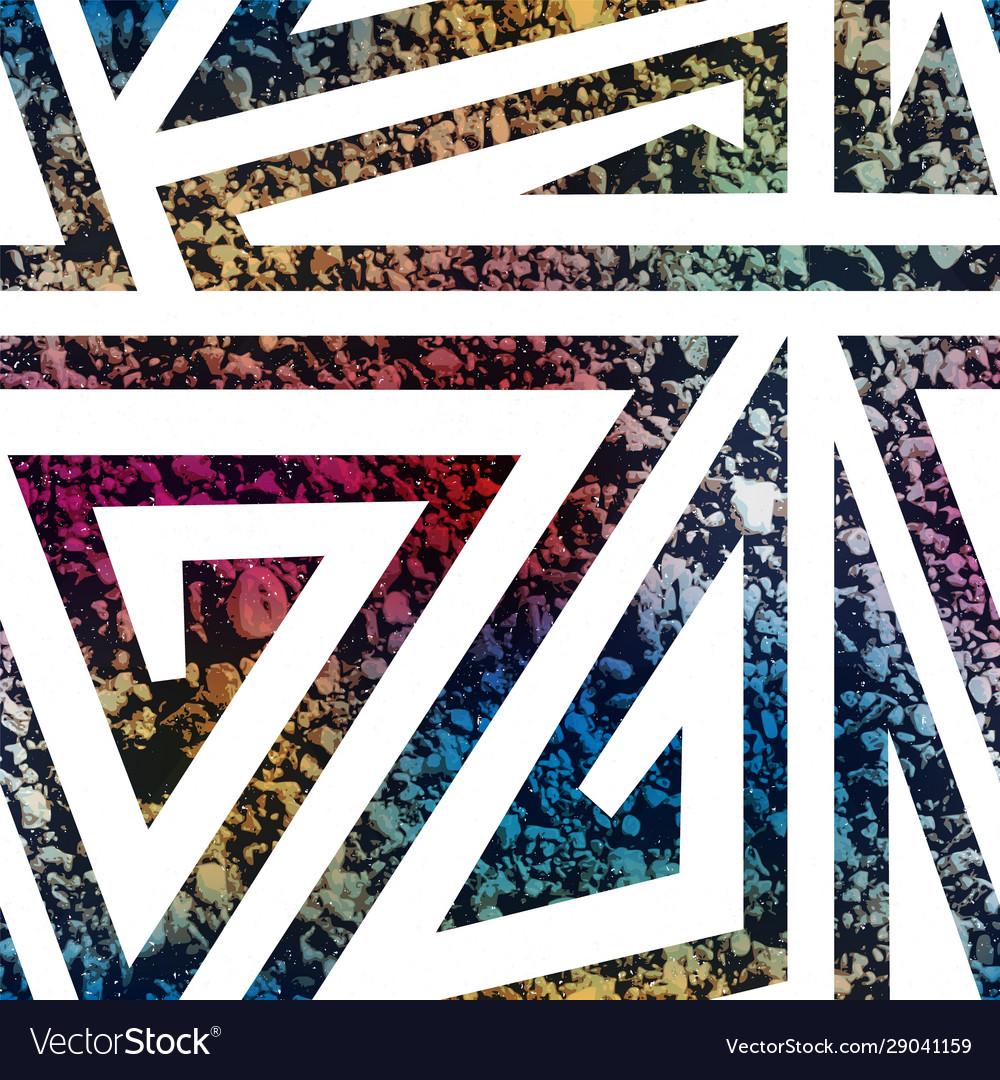 Maze geometric pattern with stone texture