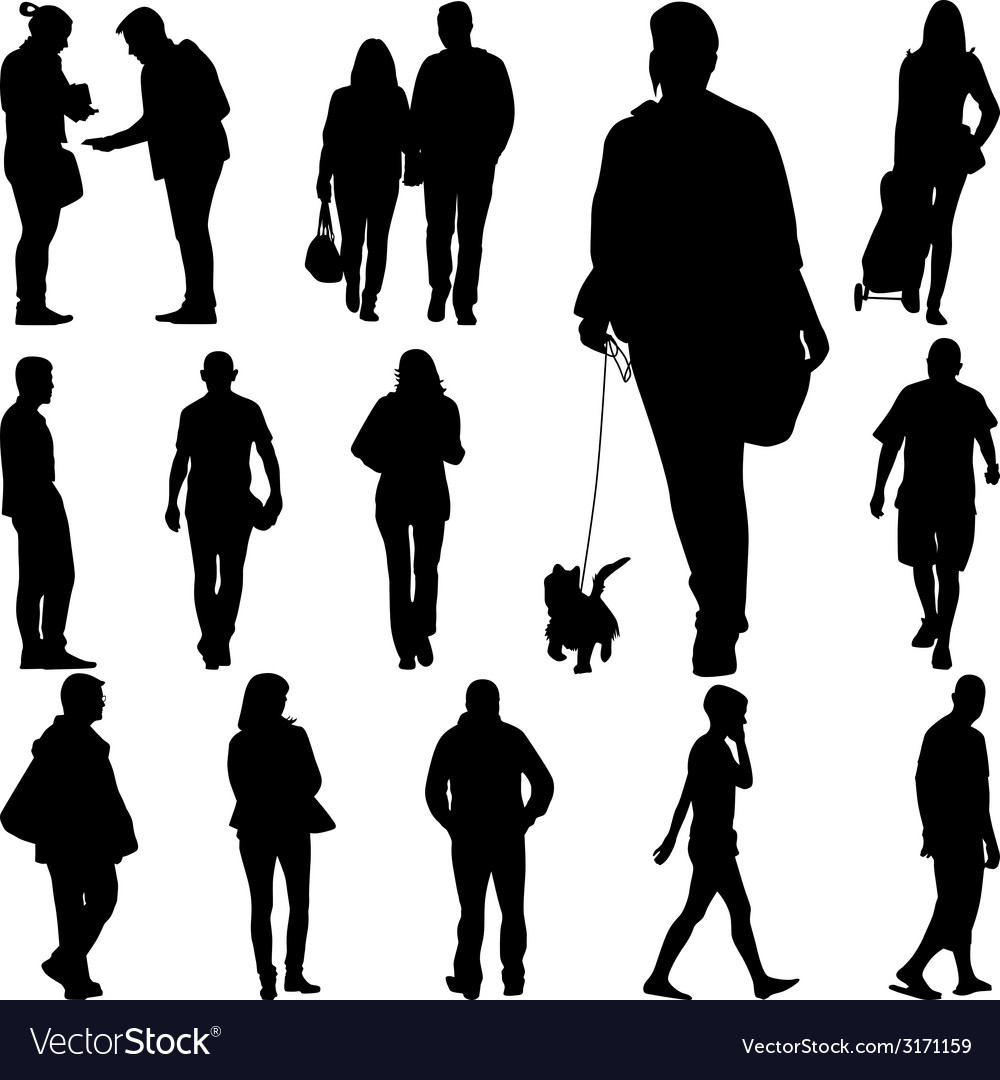 people walk royalty free vector image vectorstock vectorstock
