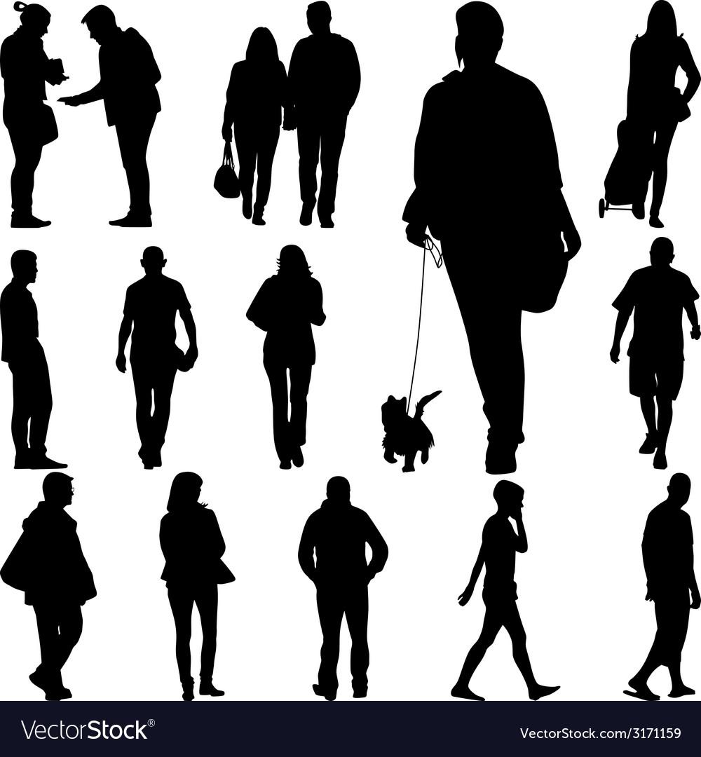 people walk royalty free vector image vectorstock vectorstock