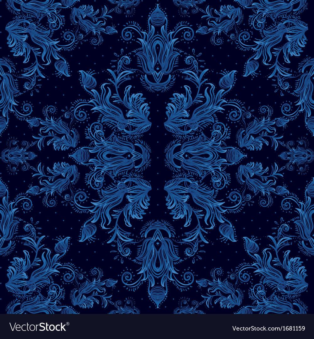 Seamless vintage background baroque pattern