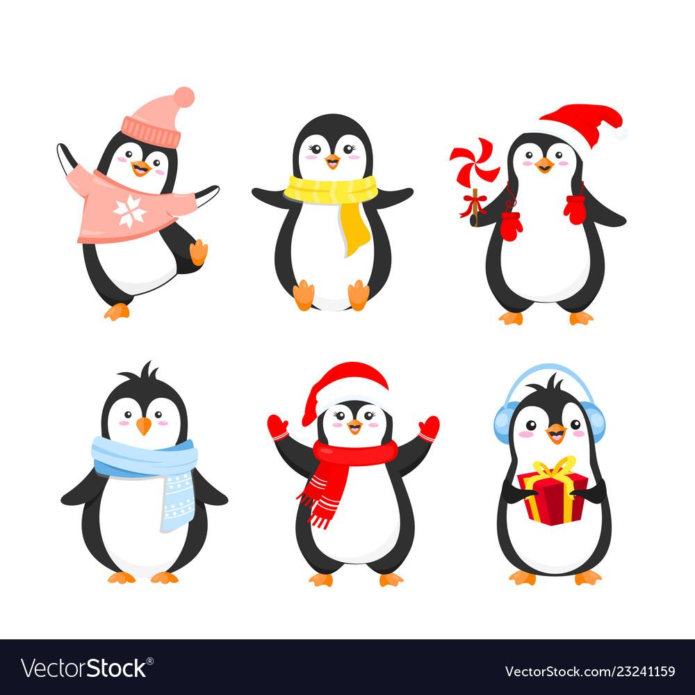 Set of funny christmas