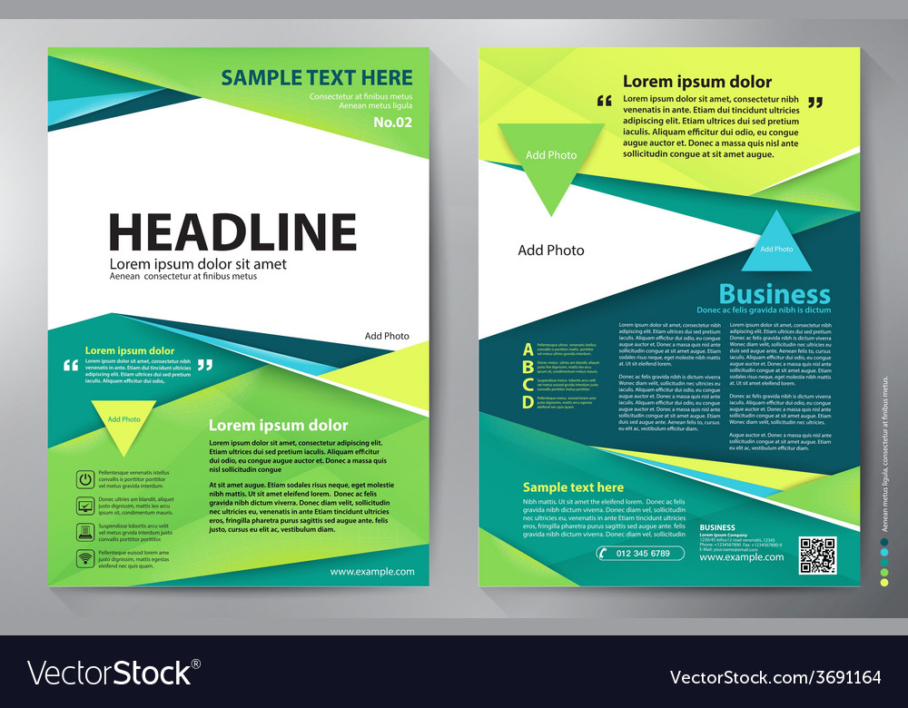 Brochure Design A4 Template Royalty Free Vector Image
