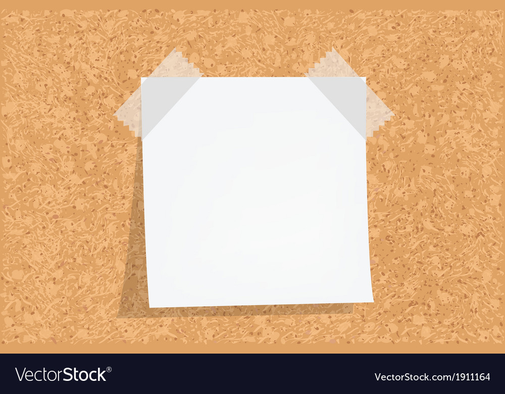 Cork Board With Notes Royalty Free Vector Image