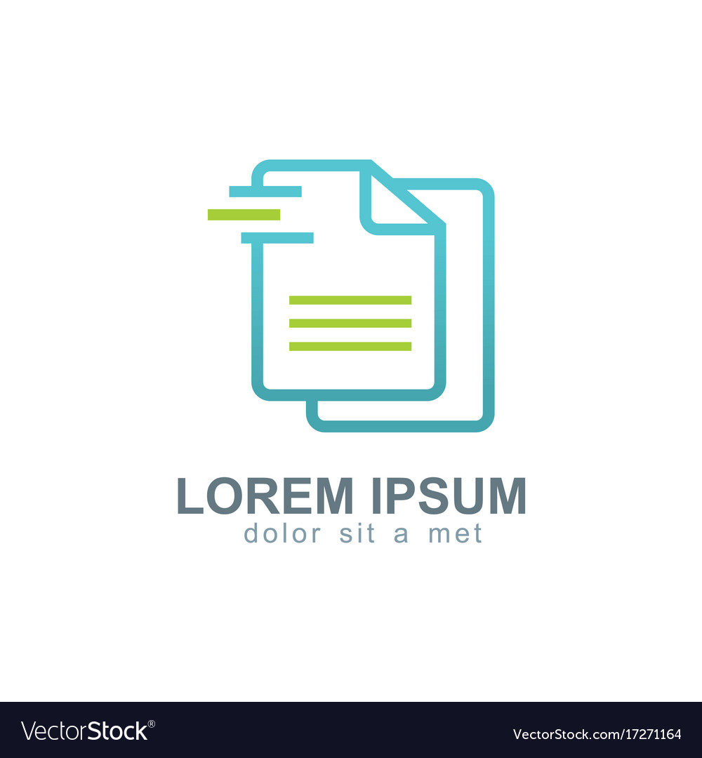 Data paper business logo