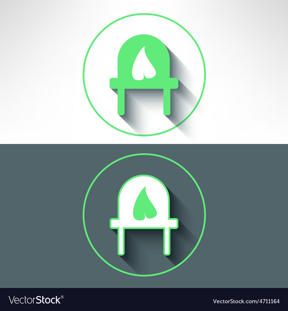 Electrical Outlet With Leaf On It Made In Vector Image