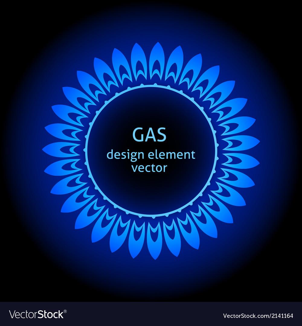 Gas burner vector image