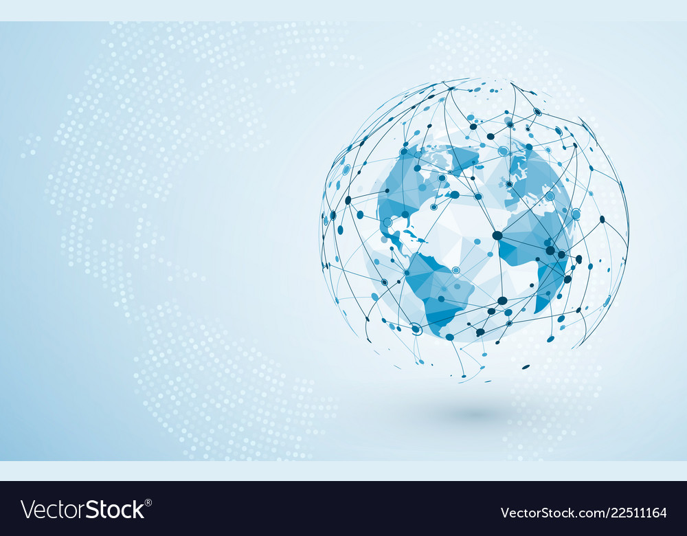Global network connection big data or global