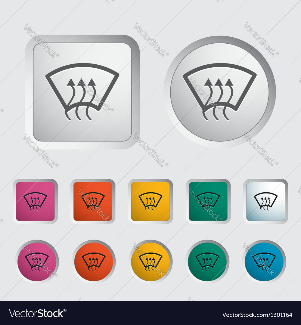 Heating glass vector image